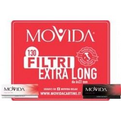 CARTINE CORTE BIANCHE MOVIDA 14G + 130 FILTRI EXTRALONG 6X22 MM
