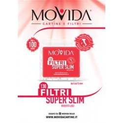 FILTRI EXTRA LONG  MOVIDA BUSTA DA 130 - 6x22 mm - SCATOLA INTERA 70 PEZZI